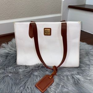 Dooney & Bourke Eva White Small Shopper Purse